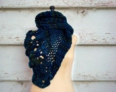 Chunky Cowl Infinity Loop Scarf Hand Knitted Oversized Snood