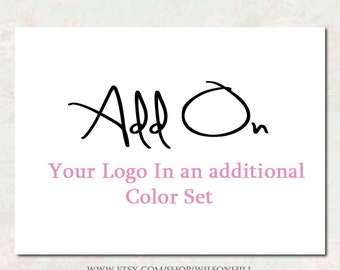 Premade Logo Set -  Set of Files in A Second Color