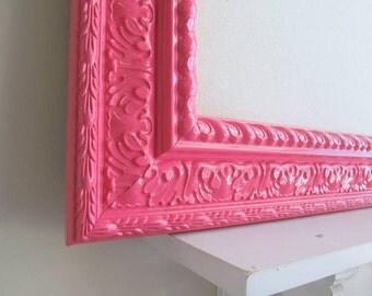 Large BULLETIN BOARD Girls Room Decor Hot Pink Neon Pink Memo Board Magnet Board Magnetic Board Teenager Desk Organizer Wall Decor