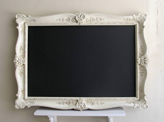 Large Chalkboard French Country Decor Shabby Chic Chalkboard