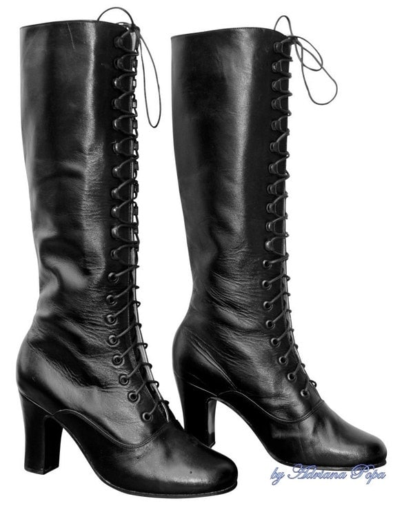 Boots on SALE Shoes on Sale Victorian Style Heeled Boots only for size 5, 6 , 7 US / 35,36,37 European