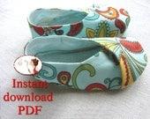 PDF. Sewing. Pattern. Kimono. Baby. Shoes. DIY
