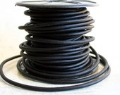 1 Meter of 6mm Black Round Leather Cord