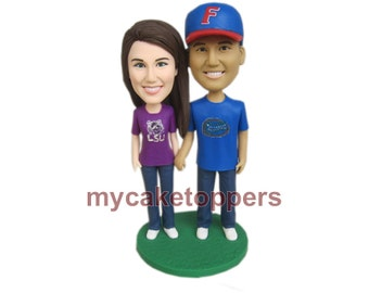 Custom wedding Cake Toppers/  Figurine/ personalized/ birthday cake toppers/ customzied cake topper  from your photo