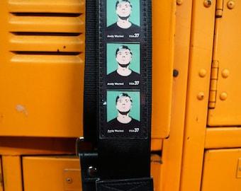 Andy Warhol Seatbelt Guitar Strap - Vegan - Too Much Pop
