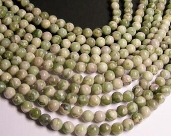Jade - 8 mm round  beads - 49 beads per strand - new jade - Lucky jade - RFG182