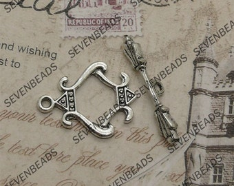 12 sets of antiqued silver OT clasp, toggled clasps,necklace clasp,bracelet clasp