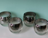 Set of 6 Silver Ombre Dorothy Thorpe Cocktail Glasses