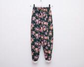 NOS Vintage floral 90's leggings pants trousers size S