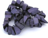 40 Violet Purple Tagua Nut Beads, HALF OFF! Chips, Organic Beads, Natural Beads, Vegetable Ivory Beads, EcoBeads