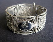 Antique Silver Bracelet Made In Iran
