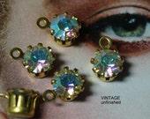 Vintage Swarovski Crystal AB 6mm Round Drops (10)
