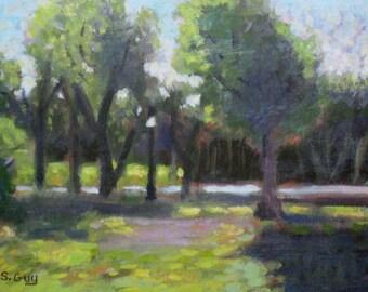Original Plein Air Impressionist Landscape Painting