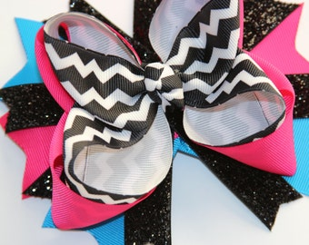 Over the top Chevron Bow - FREE SHIPPING with Another Order