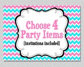 Party Package - Print your Own Choose any 4 items