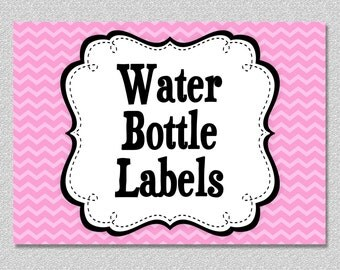 Matching Printable Water Bottle Labels