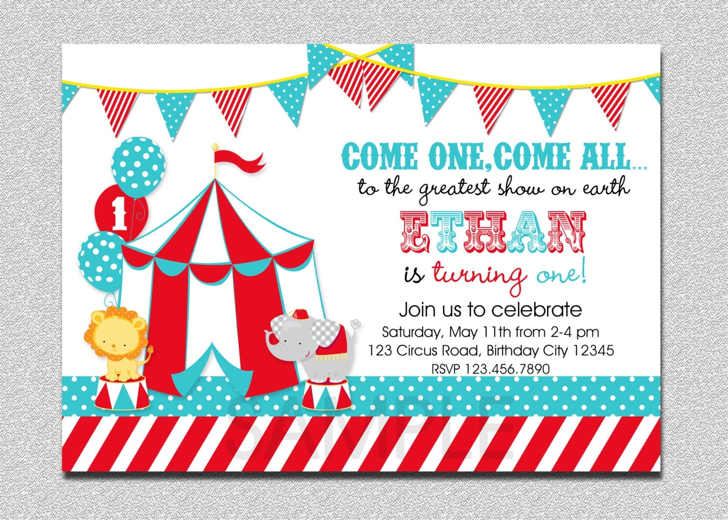 Carnival Circus Birthday Invitation Circus Carnival Birthday – Free Printable Carnival Birthday Invitations