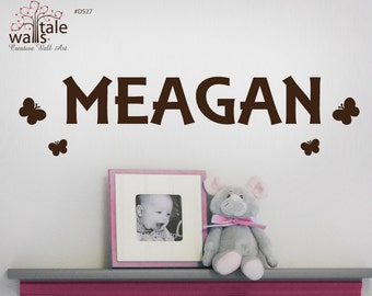 SALE-NAME,stars,alphabet,butterflies, and other small object wall decal of your choice