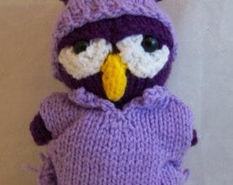Knit Baby Owl Plush Toy