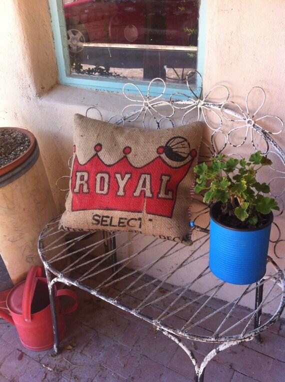 Royal Burlap Pillow