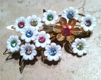 EMMONS Collectible Designer 40s Vintage Jewelry Feminine Pin Floral Brooch Vintage Jewelry artedellamoda talkingfashion