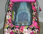 Infant car seat cover, tent, canopy with window (Not Too Shabby)