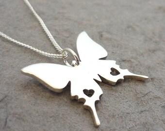 Sweet Butterfly Sterling Silver Handmade Pendant