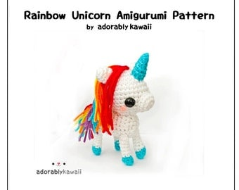 Rainbow Unicorn Amigurumi  - PDF Crochet Pattern