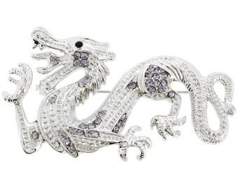 Provence Lavender Dragon Pin Brooch 1002892