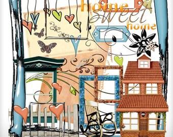 Home Sweet Home Embellishments Digital Scrapbooking Kit Scrap 4 Hire Friendly Clipart Instant Download