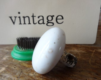 Vintage Porcelain White Cream Door Knob Sweet