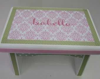 Little Girl's Princess Sturdy Step Stool or Bench