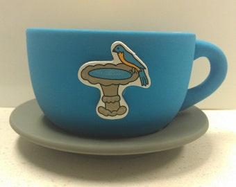 Bird Tea Cup Planter