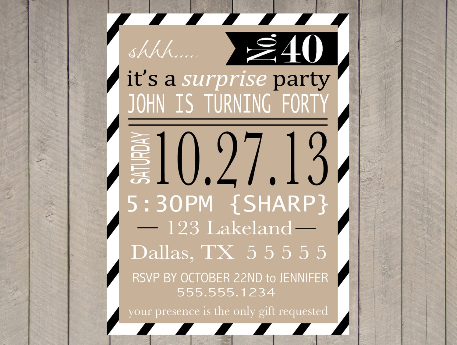items similar to adult surprise party invitation printable  40th birthday  50th  60th typography