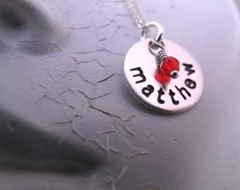 Tiny Tokens Name Necklace in Sterling Silver