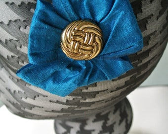 The RUBY - blue headpiece, blue fascinator, blue hair clip, blue hair piece