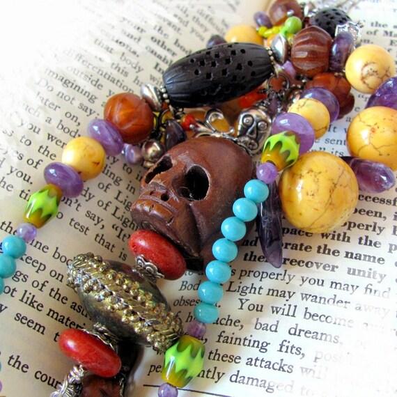 MARIE LAVEAU Queen of Voodoo unique jewelry unusual jewelry hoodoo vodou voodoo unique necklace