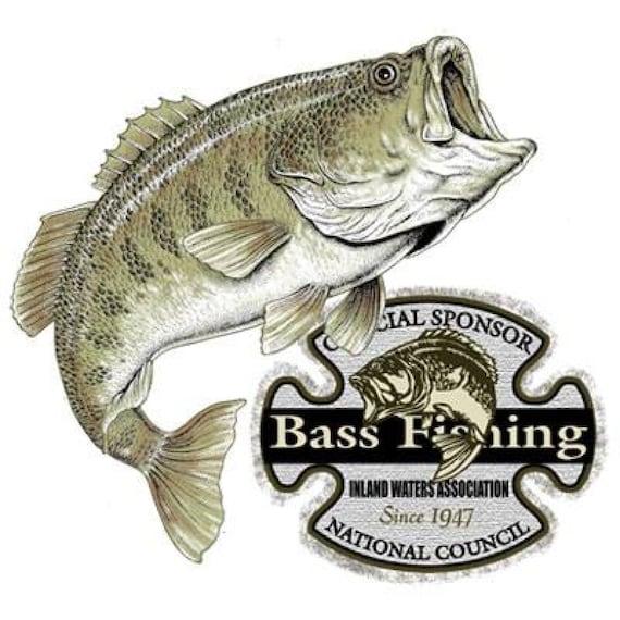 Bass fishing contest national council official sponsor t shirt for Fishing sponsor shirts