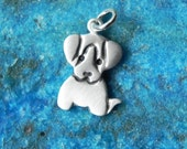 Little puppy dog sterling silver pendant beagle pendant