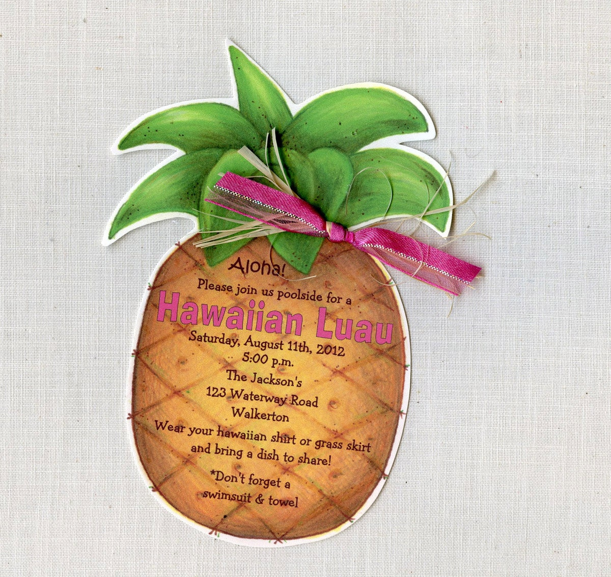 Personalized Luau Invitations for amazing invitations layout