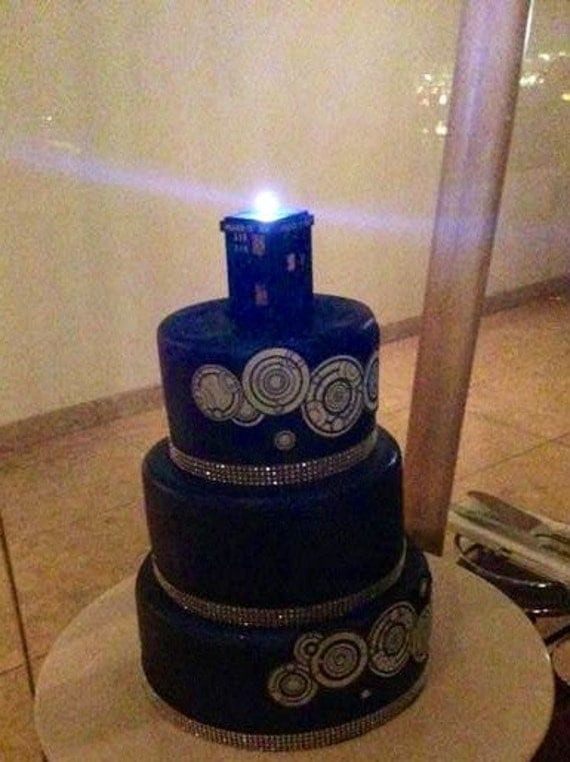 Tardis Cake Topper Uk
