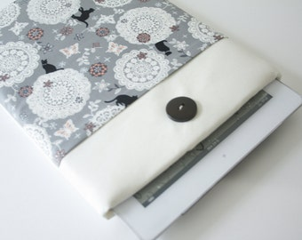 iPad case sleeve for ipad 2, new ipad -PADDED - FRONT POCKET- cat