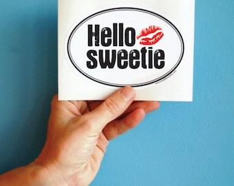 Hello Sweetie Doctor Who bumper sticker