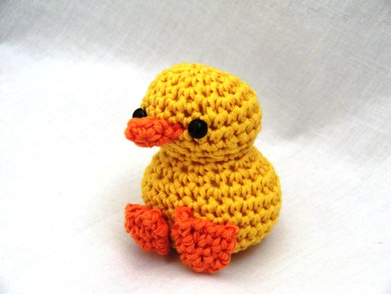 Crochet Amigurumi Duck Patterns : Mini amigurumi duck PDF crochet pattern