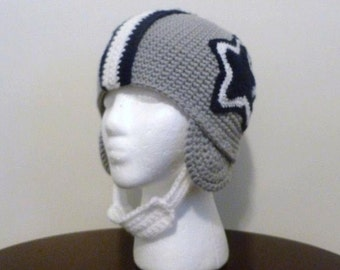 Dallas Cowboys Helmet- Beanie-Hat-Football-Team Spirit-Made to Order-Unisex-All Sizes