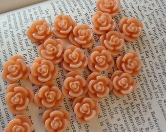 Pale Pink Resin Flower Cabochon 15mm