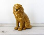 Vintage / Ceramic Lion Figurine 1970s