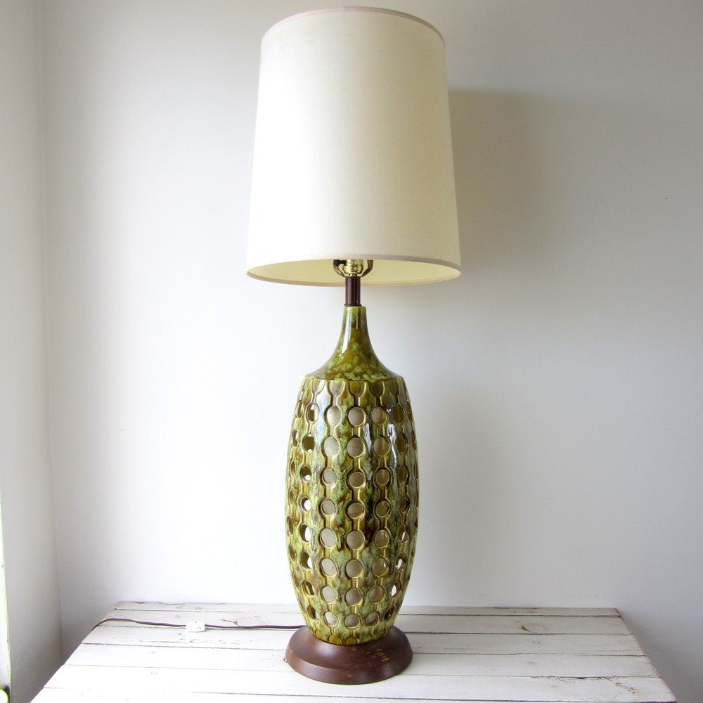 Mid Century Modern Wood Lamps