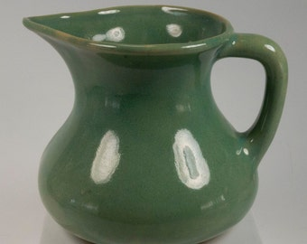 Vintage Small Green Ironstone Pitcher