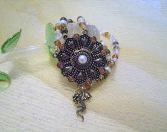 Medieval Dragon Bracelet, medieval jewelry renaissance jewelry fantasy jewelry gothic victorian edwardian art deco art nouveau steampunk